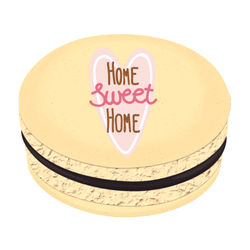 Heart Home Sweet Home Printed Macarons