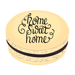 Black Home Sweet Home Printed Macarons