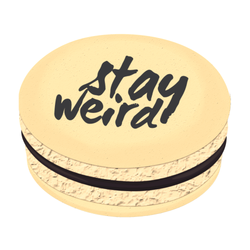 Stay Weird Printed Macarons