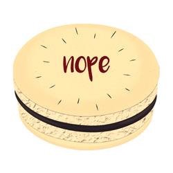 Nope Printed Macarons