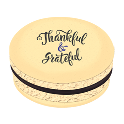 Thankful and Grateful Printed Macarons