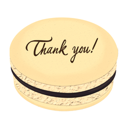 Thank You Printed Macarons
