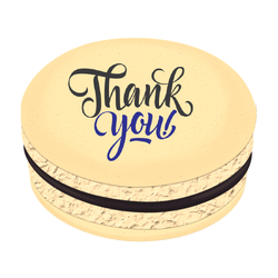 Thank You! Printed Macarons