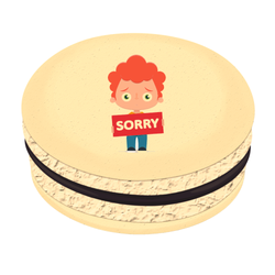 Little Boy Sorry Printed Macarons