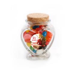 Have a Merry Christmas Christmas Heart Glass Jar