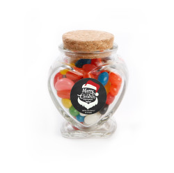 Merry Christmas Everyone Christmas Heart Glass Jar