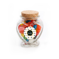 Custom Text Christmas Heart Glass Jar