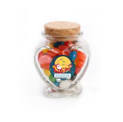 Ho! Ho! Ho! Christmas  Heart Glass Jar