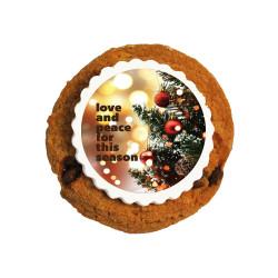 Love & Peace Christmas Printed Cookies
