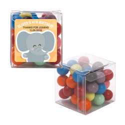 Baby Elephant Birthday Sweet Cubes