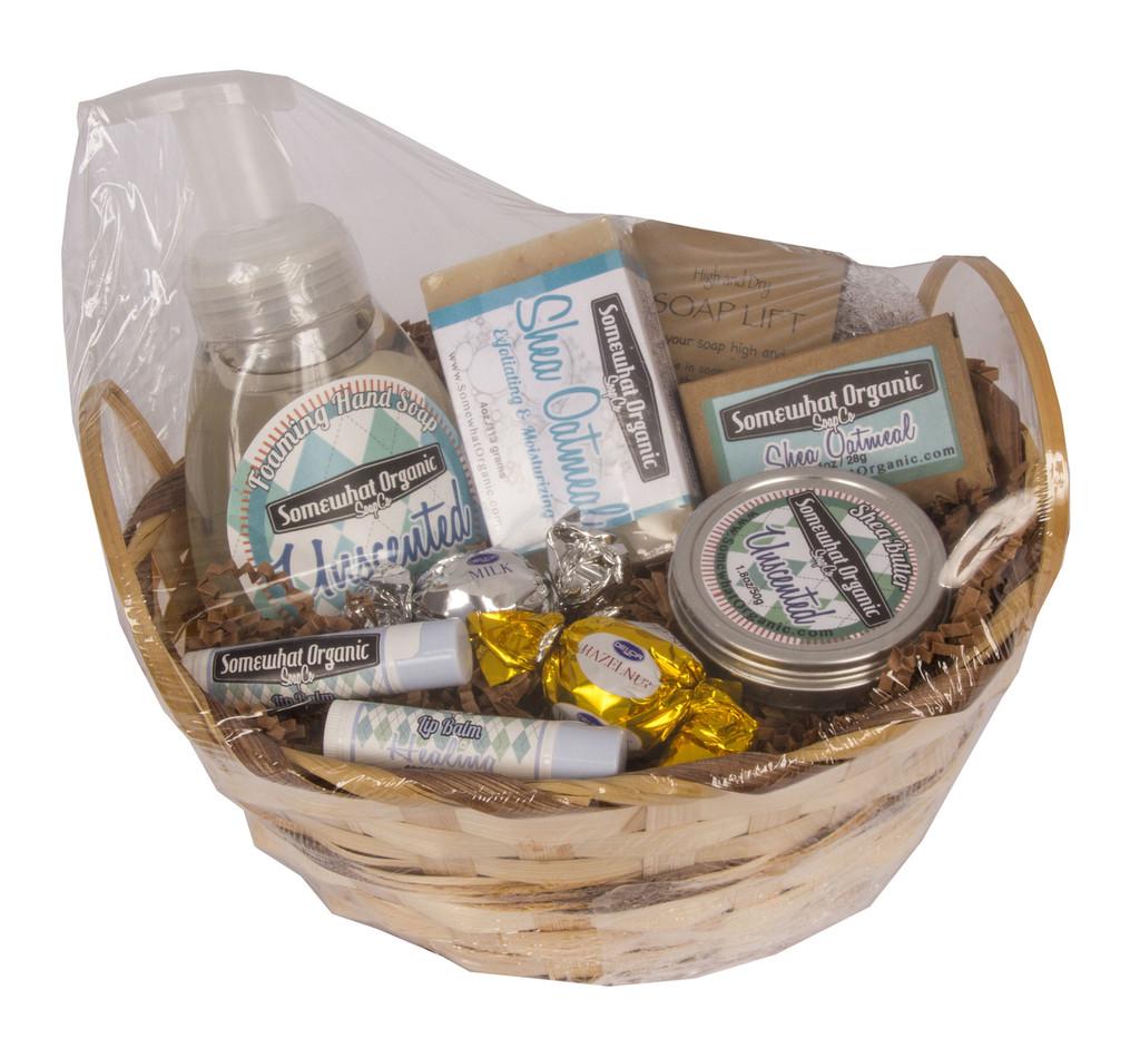 """""""Same Scent Sampler"""" Organic Soap Gift Basket"""