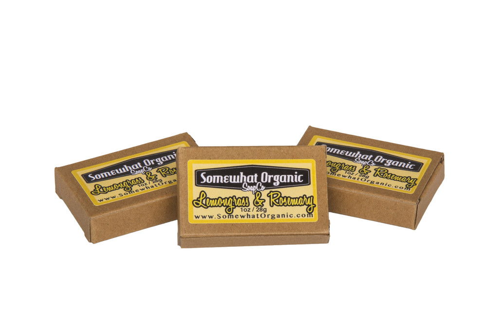 Lemongrass & Rosemary  Organic Soap - 1 oz. Mini Bar