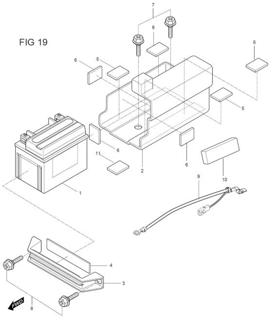 Battery Minus Lead Wire Negative Gv250
