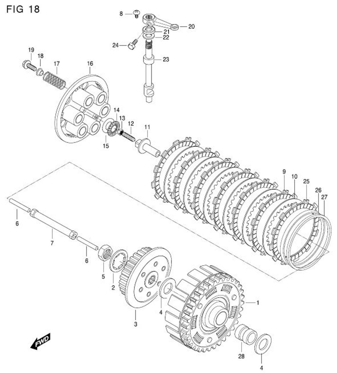 clutch drive plate no 2 hyosung 650 motor