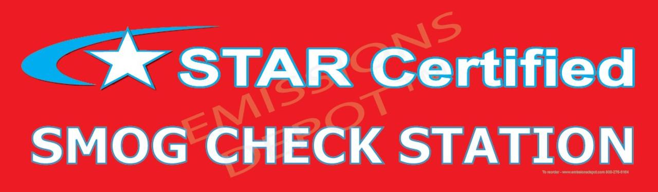 STAR CERTIFIED BANNER - SMOG CHECK STATION | Vinyl Banner