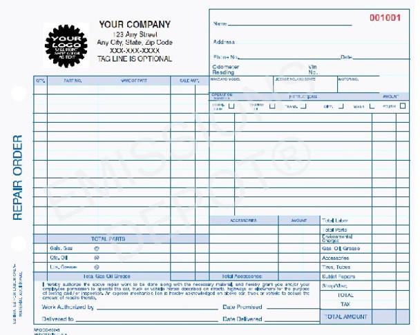 auto repair order