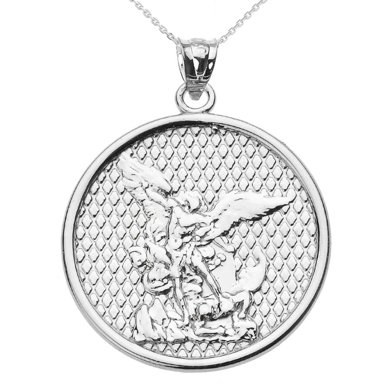 dp necklace medal seal protection sterling christian jewellery archangel india pendant buy talisman silver at michael amazon prices st online michaels low in
