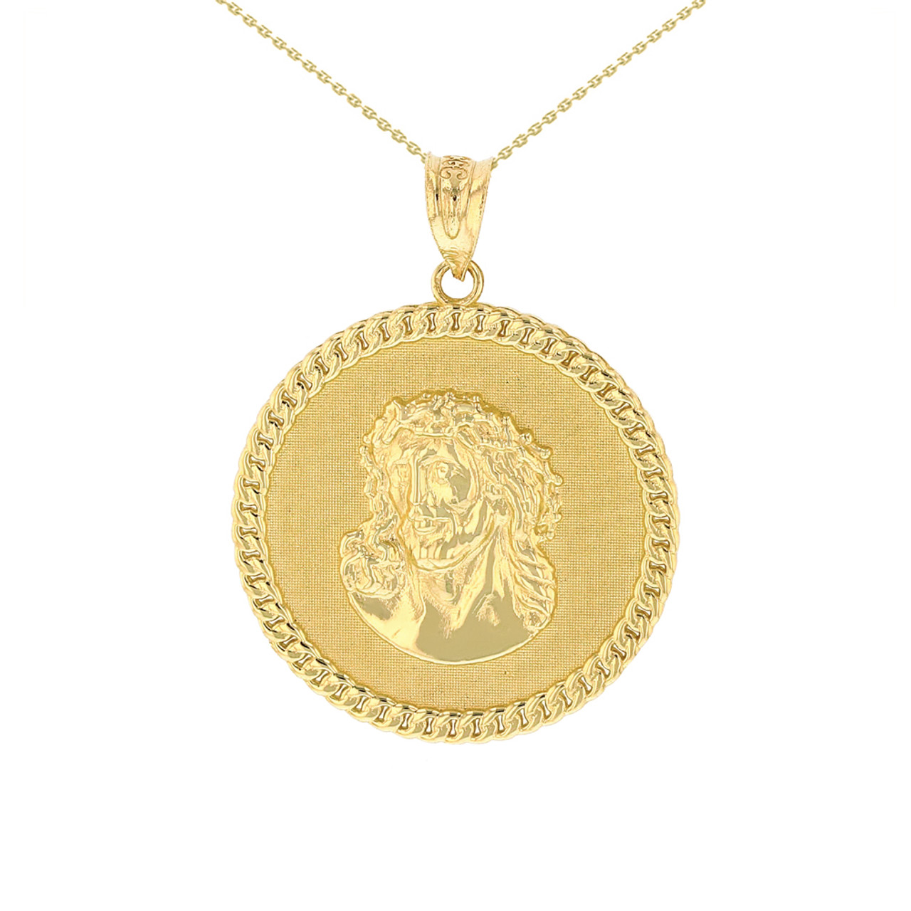medusa diamond medallion versace pendant style gold large