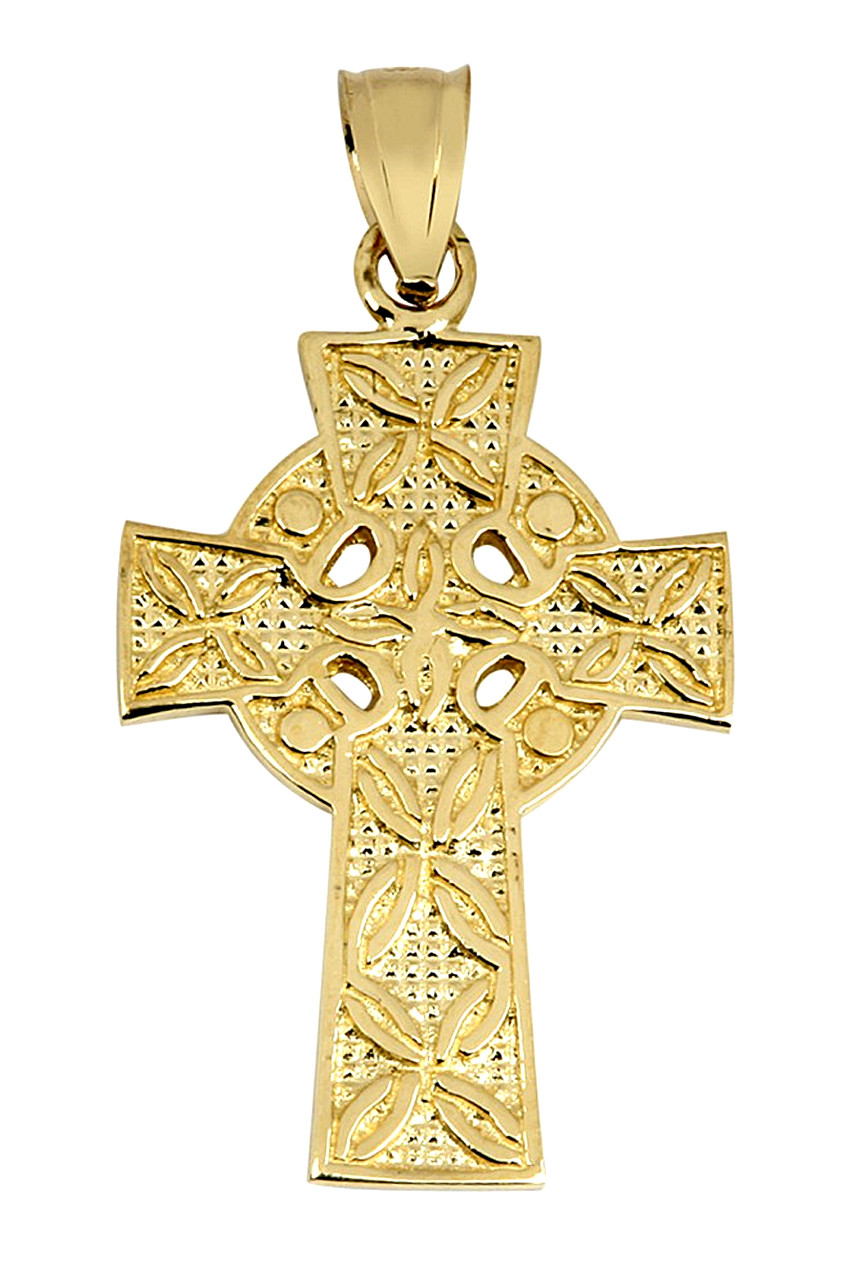 cross pendant celtic satin silver irish antiqued sterling