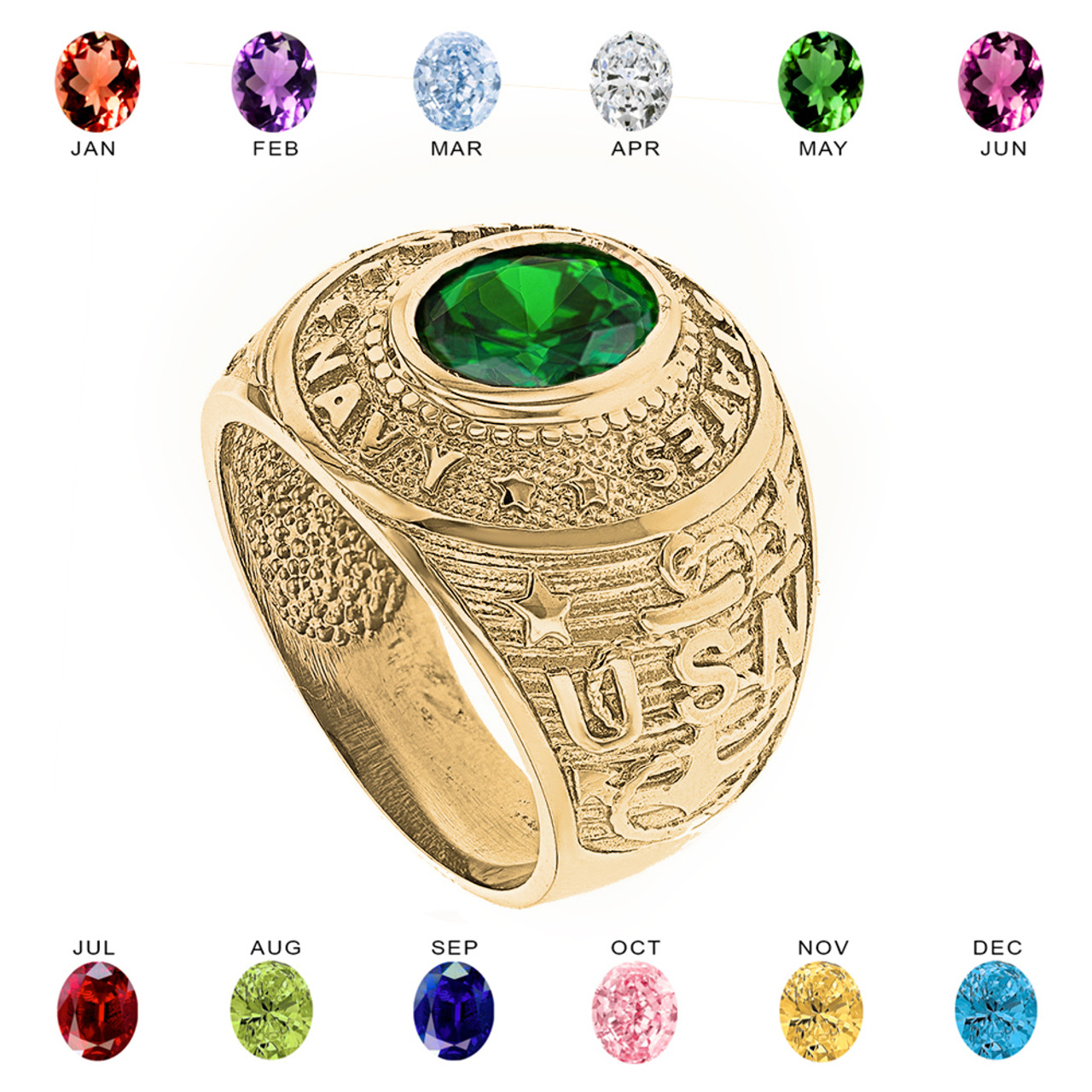 bezel rings yellow gold today jewelry ring round birthstone shipping watches overstock product set free