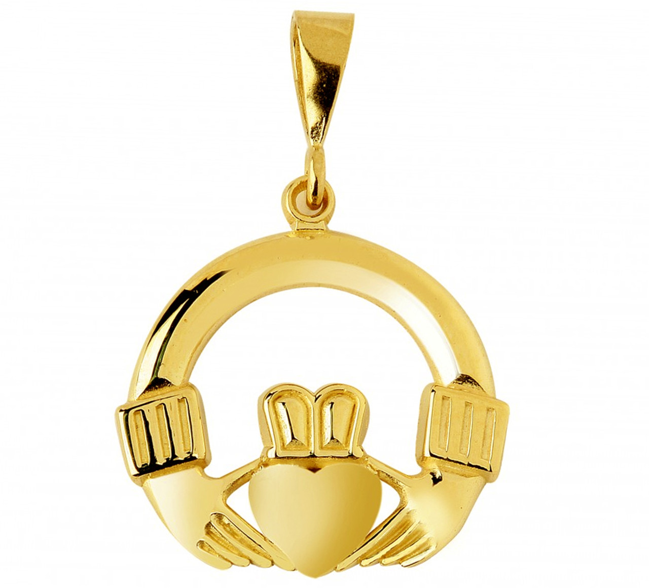 from solid your to jewellery door pendant claddagh silver chain product necklace