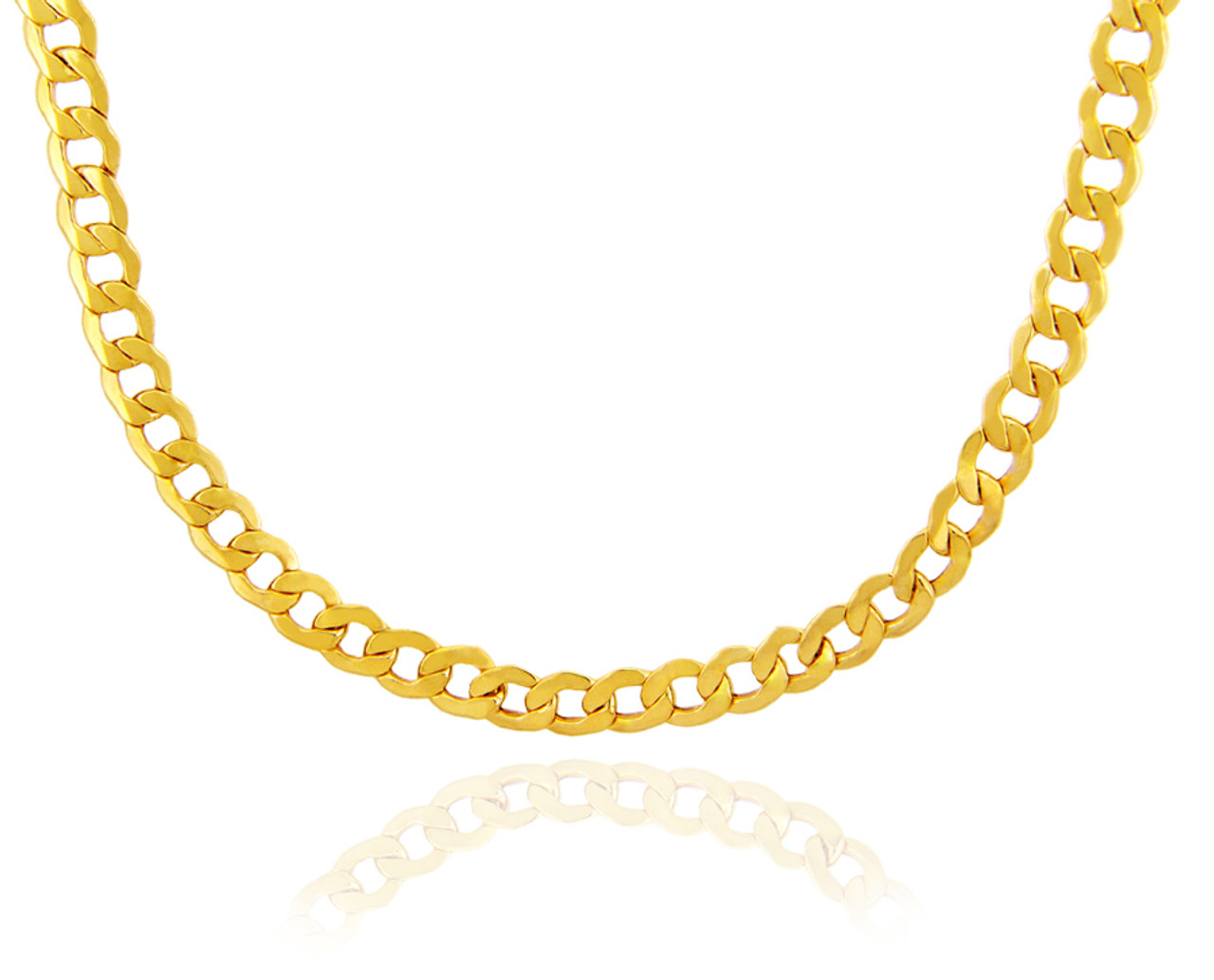 yellow chain bracelets women necklace rope solid necklaces mens gold itm