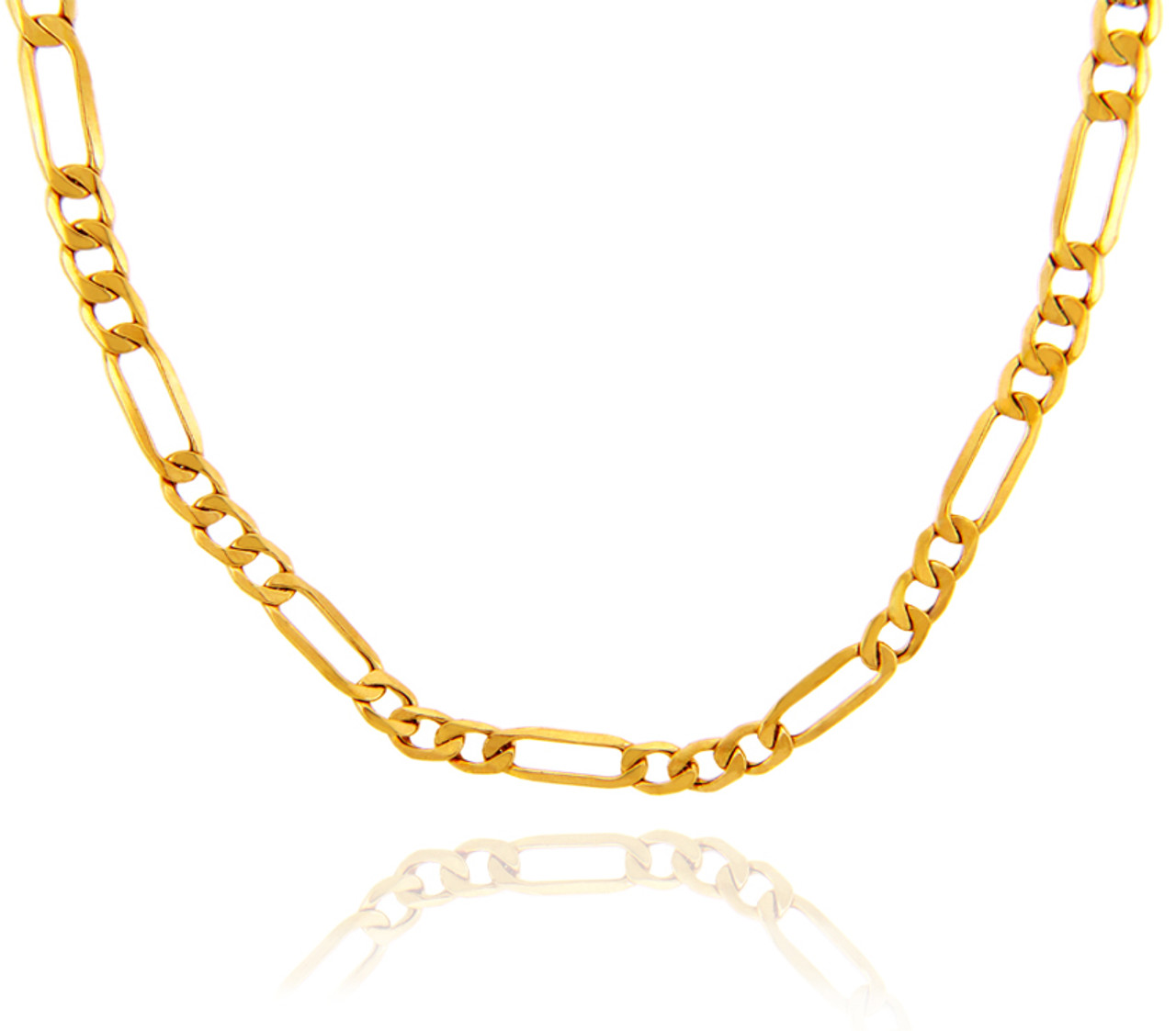 necklaces glod and box mm yellow gold chain link chains