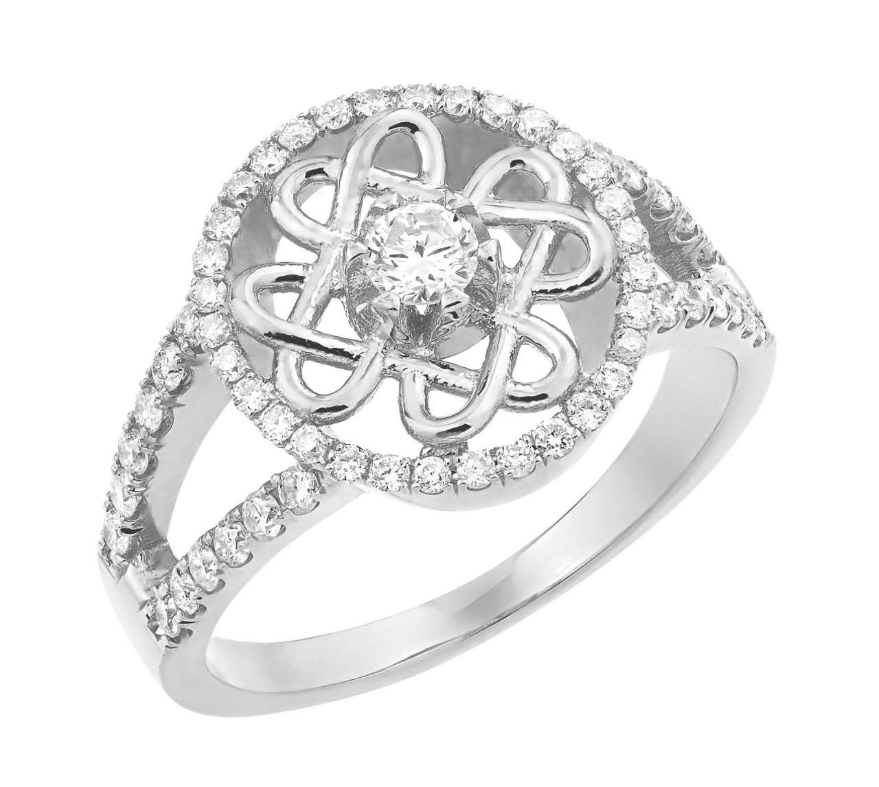White Gold Forever Celtic Knot Diamond Wedding Ring