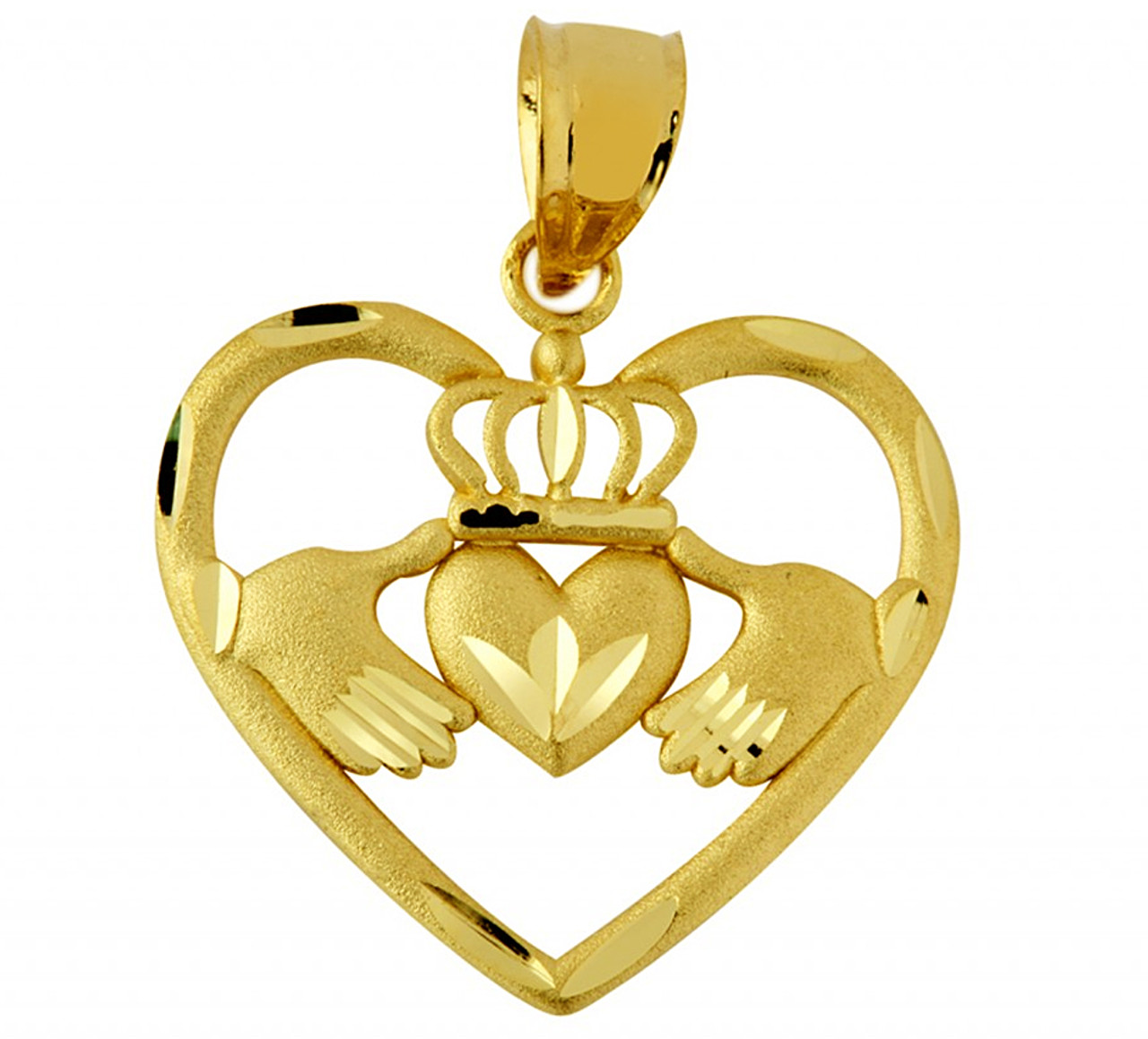 pendant silver cross necklace claddagh