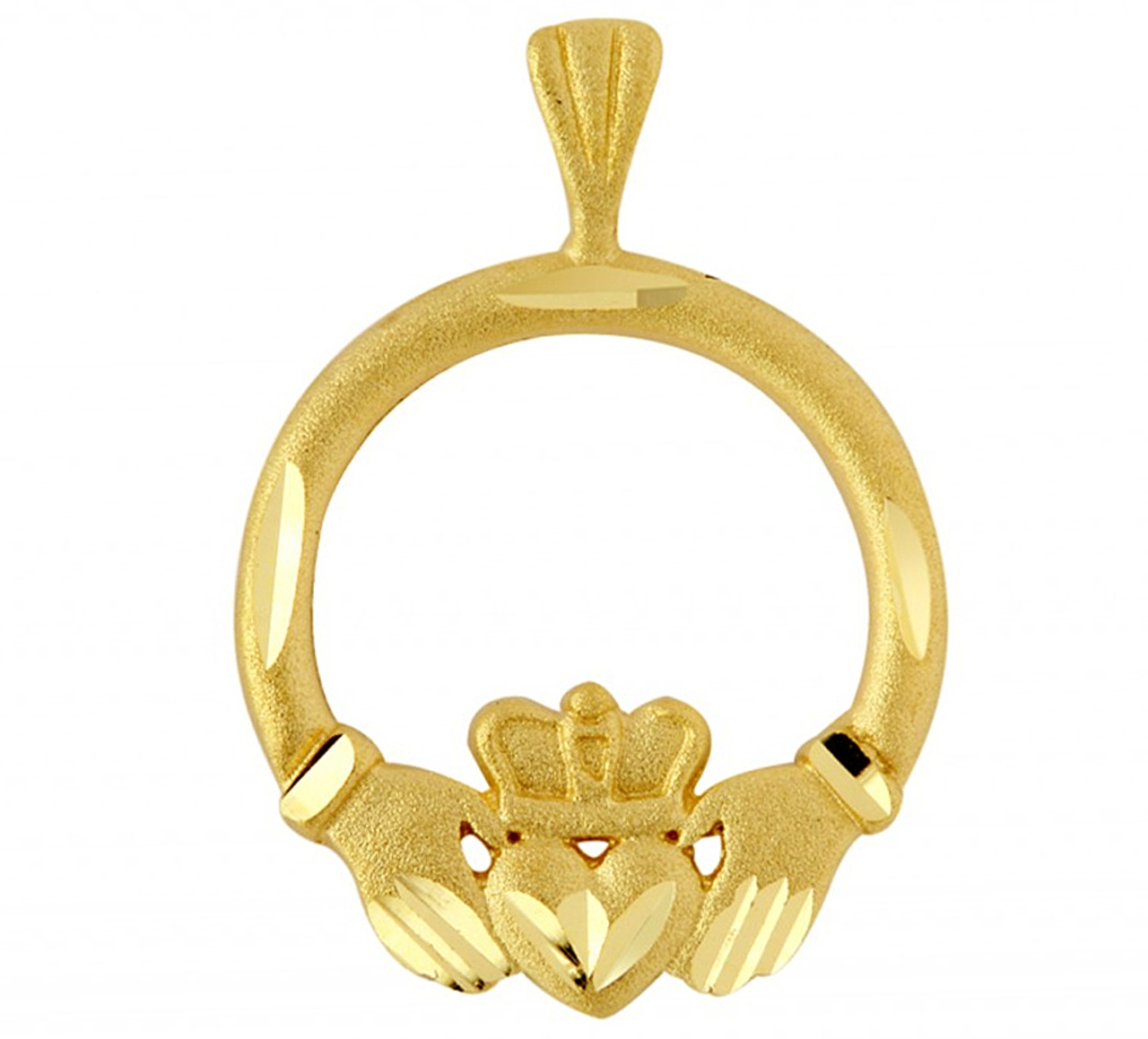 Gold claddagh pendant in traditional irish design aloadofball Image collections