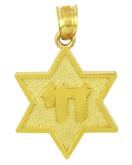 Pendants necklaces jewish chai pendants page 1 claddagh gold jewish charms and pendants star of david with chai yellow gold pendant aloadofball Images