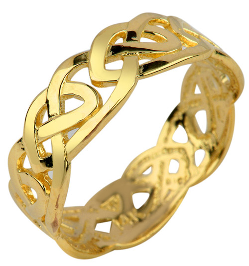 Gold Trinity Knot Celtic Ring from CladdaghGold.com - image