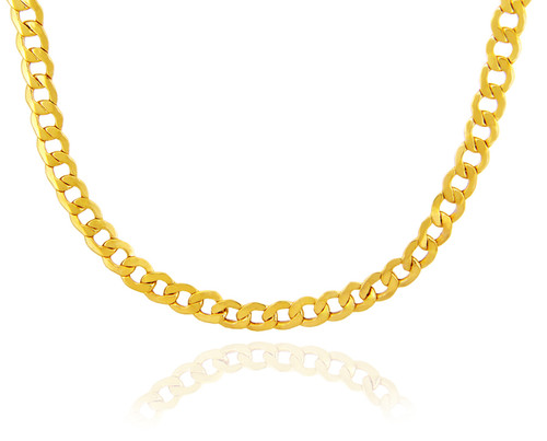 cuban chains p curb with gold chain cuts ebay diamond inch link s