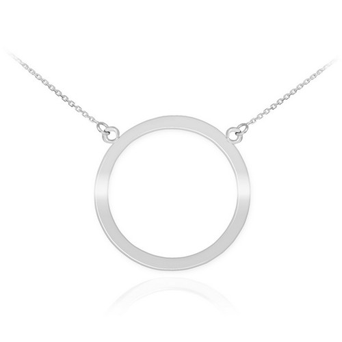 14k white gold circle of life karma necklace aloadofball Image collections