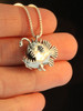 Angler Fish Charm - Silver