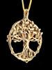 Circle of Life Tree Pendant - 14k Gold