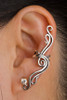 Silver French Twist Ear Cuff