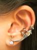 Bronze Gecko Ear Cuff