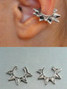 Stacking Ninja Star Ear Cuffs The two separate Ninja Star Ear Cuffs, one with six points, one with five points.