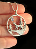 Lunar Wolf Song Pendant with Moonstone