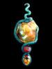 Tri-Opal Infinity Snake Pendant in Original Wax