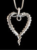Tentacle Heart Pendant in Silver