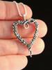 Tentacle Heart Pendant - Silver