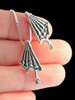 Butterfly Wing Charm Pendant - Silver