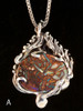 Four Elements Pendant with Gemstone in Silver