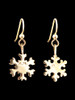 Small Snowflake Earrings - 14K Gold