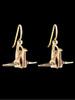 Peace Crane Earrings in 14K Gold