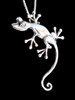 Curious Gecko Pendant in Silver