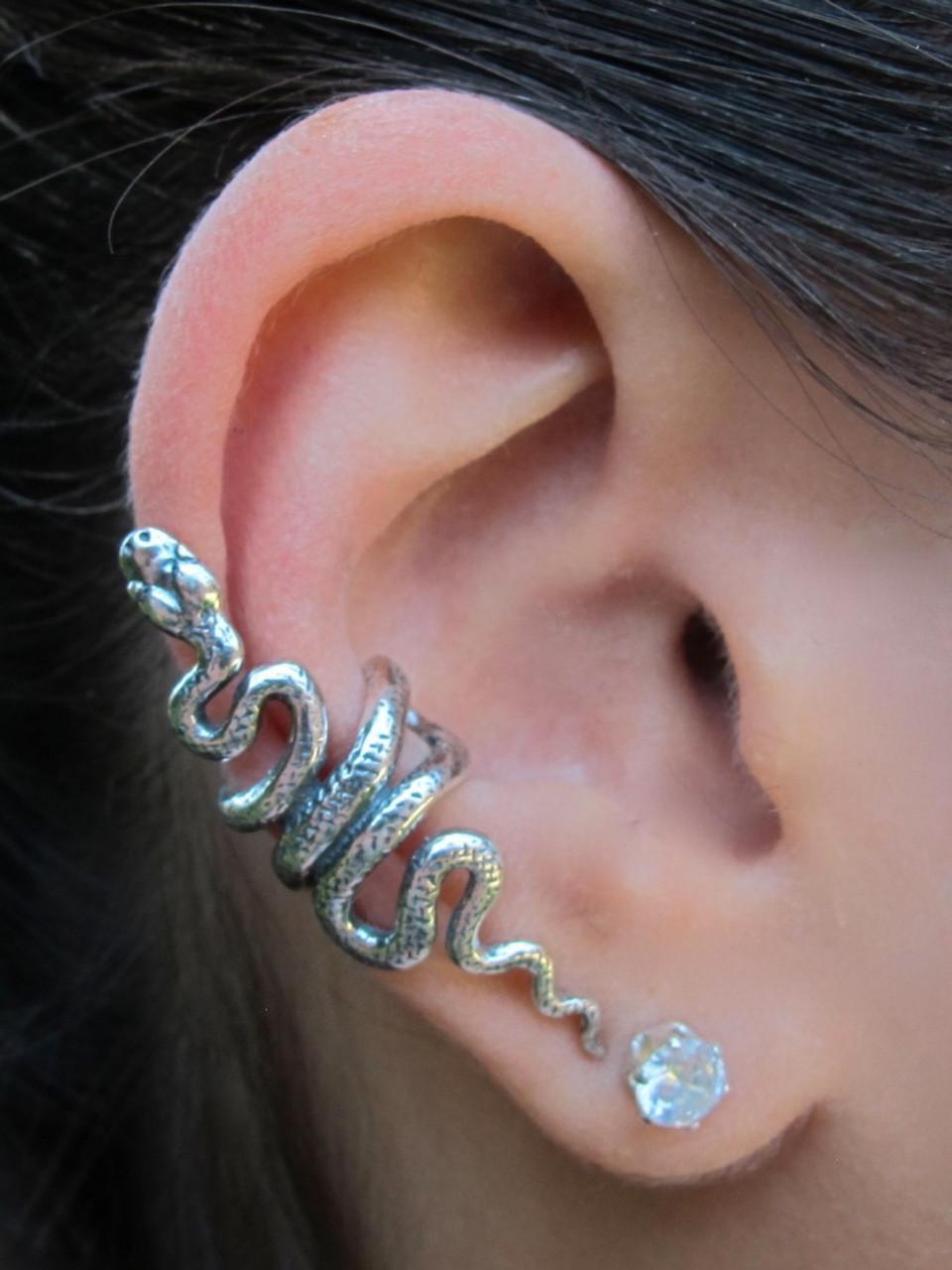 574ba97f15b2be Snake Ear Cuff - Silver