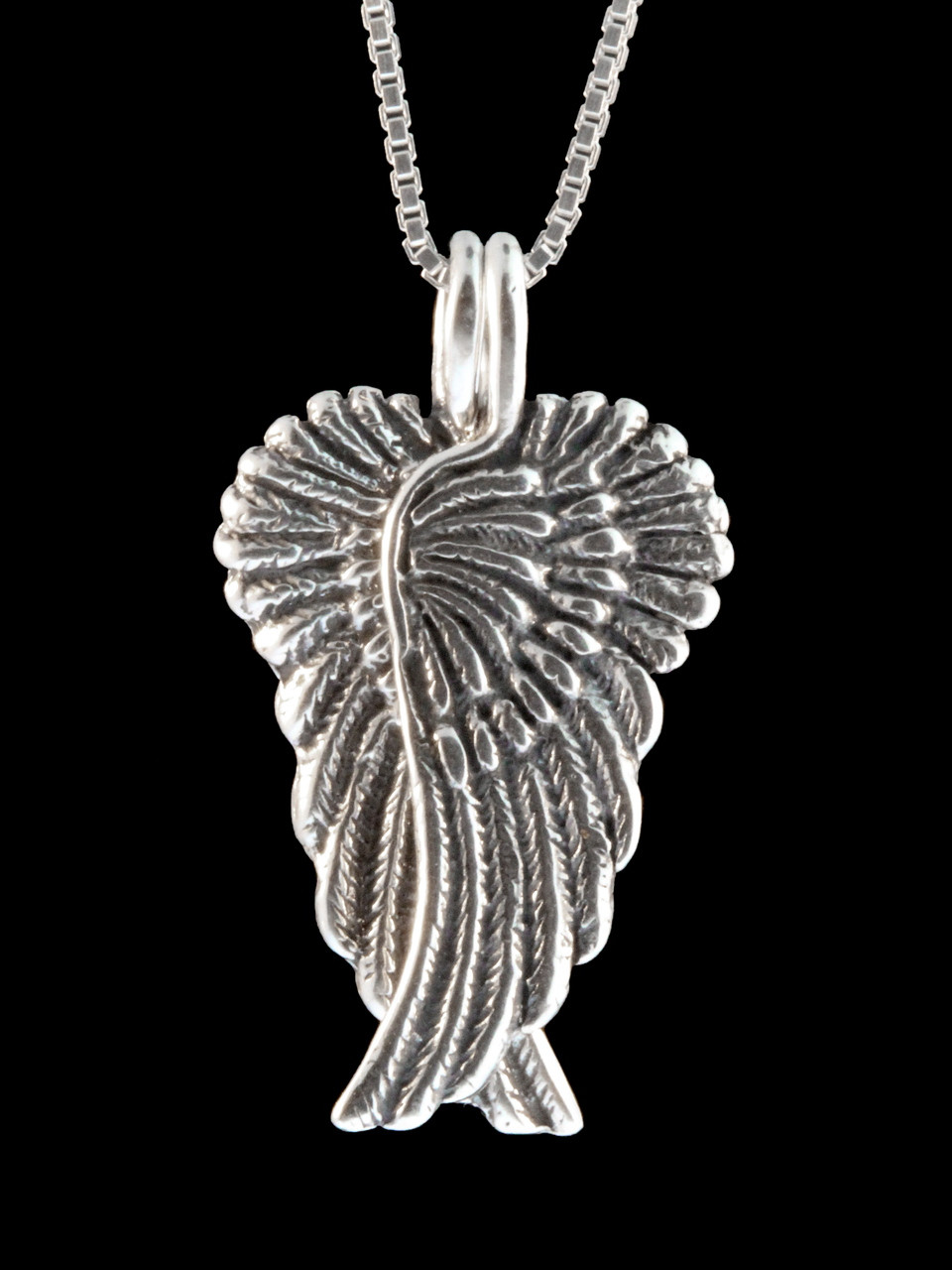 guardian caduceus wings itm silver angel dual sterling res necklace wing pendant snake